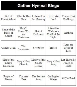 Gather hymnal bingo
