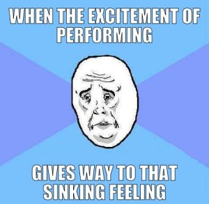 excitement-performing